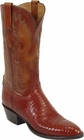 Ladies Lucchese Classics Peanut Brittle Lizard Custom Hand-Made Western Boots L4031