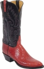 Ladies Lucchese Classics Red Lizard Custom Hand-Made Western Boots L4035