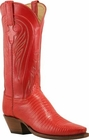 Ladies Lucchese Classics Red Lizard Custom Hand-Made Western Boots L4119