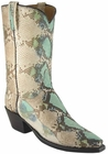 Ladies Lucchese Classics Robin Egg Blue Python Snake Custom Hand-Made Western Boots L4109