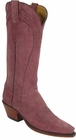 Ladies Lucchese Classics Rose Cashmere Suede Custom Hand-Made Western Boots L4575
