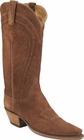 Ladies Lucchese Classics Rust Cashmere Suede Custom Hand-Made Western Boots L4551