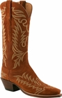 Ladies Lucchese Classics Rust Cashmere Suede Custom Hand-Made Western Boots L4669