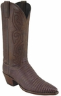 Ladies Lucchese Classics Sport Rust Sanded Lizard Custom Hand-Made Western Boots L4114