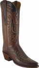 Ladies Lucchese Classics Tan Burnished Ranch Hand Custom Hand-Made Western Boots L4625