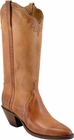 Ladies Lucchese Classics Tan Mad Dog Goat Custom Hand-Made Western Boots L4596