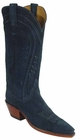 Ladies Lucchese Classics Teal Cashmere Suede Custom Hand-Made Western Boots L4573