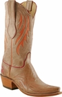 Ladies Lucchese Classics Vanilla Burnished Sofia Goat Custom Leather Boots L4711
