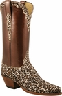 Ladies Lucchese Classics White Leopard Pattern Custom Hand-Made Western Boots L4705