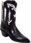 Ladies Lucchese Vintage Classics Black Buffalo Custom Hand-Made Cowgirl Boots L7012