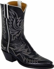 Ladies Lucchese Vintage Classics Black Buffalo Custom Hand-Made Cowgirl Boots L7017