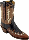 Ladies Lucchese Vintage Classics Black Buffalo Custom Hand-Made Cowgirl Boots L7030