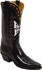 Ladies Lucchese Vintage Classics Black Calf Custom Hand-Made Cowgirl Boots L7009