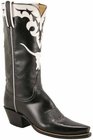 Ladies Lucchese Vintage Classics Black Calf Custom Hand-Made Cowgirl Boots L7041