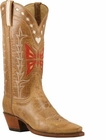 Ladies Lucchese Vintage Classics Camel Monterrey Leather Custom Hand-Made Cowgirl Boots L7052