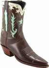 Ladies Lucchese Vintage Classics Chocolate Oil Calf Custom Hand-Made Cowgirl Boots L7011