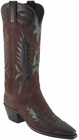Ladies Lucchese Vintage Classics Chocolate Suede Custom Hand-Made Cowgirl Boots L7044