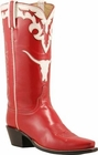 Ladies Lucchese Vintage Classics Red Goat Custom Hand-Made Cowgirl Boots L7050