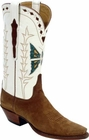 Ladies Lucchese Vintage Classics Rust Suede Custom Hand-Made Cowgirl Boots L7010