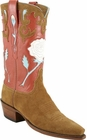 Ladies Lucchese Vintage Classics Rust Suede Custom Hand-Made Cowgirl Boots L7034