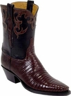 Ladies Lucchese Vintage Classics Sport Rust Lizard Custom Hand-Made Cowgirl Boots L7007