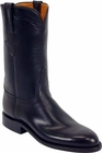 Ladies Luchese Classics Black Oil Calf Leather Custom Hand-Made Roper Boots L5516