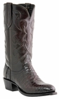 "Lucchese Men's ""Charles"" Black Cherry & Cordovan Belly Crocodile Leather Boots M1637"