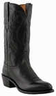 """Mens Lucchese """"Cole"""" Black Ranch Hand Leather Cowboy Boots M1006"""