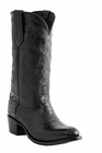 """Men's Lucchese """"Charles"""" Black Belly Crocodile Leather Boots M1636"""