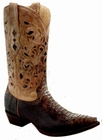 Men's Corral Brown/Beige Python Laser Top Boots A1806