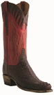 Men�s Lucchese Classics Barrel Brown Burnished Hornback Caiman with Muil Stitch Design and Collar L1443