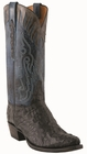 Men�s Lucchese Classics Black Burnished Hornback Caiman with Muil Stitch Design and Collar L1442