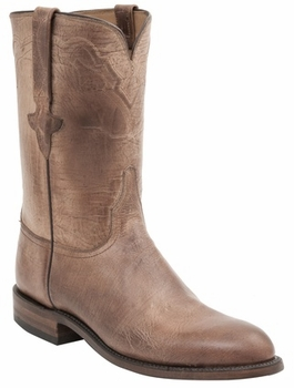 Men's Lucchese Classics Tan Burnished Goat Leather Roper L3570