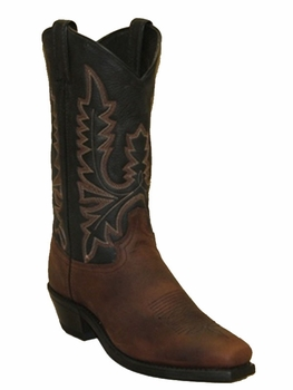 "<Font size=5 color=""red""><b>></b></Font>Mens Abilene Brown/Black Two-Tone Western Boots #6560"