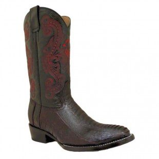 Mens Circle G by Corral Black Cherry Ostrich Leg Boots 081660