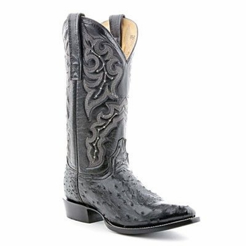 Mens Circle G by Corral Black Full Quill Ostrich Boots 010160