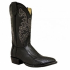 Mens Circle G by Corral Black Ostrich Leg Boots 080160