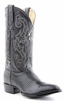 Mens Circle G by Corral Black Ring Lizard Boots 060160