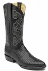 Mens Circle G by Corral Black Teju Lizard Boots L5010