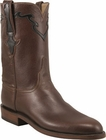 Mens Lucchese Classics Antique Brown Buffalo Calf Custom Hand-Made Roper Boots L3555