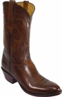 Mens Lucchese Classics Antique Brown Buffalo Custom Hand-Made Cowboy Boots L1581
