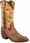 Mens Lucchese Classics Barnwood Full Quill Ostrich Custom Hand-Made Cowboy Boots L1359