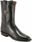 Mens Lucchese Classics Black Buffalo Custom Hand-Made Roper Boots L3538