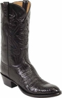 Mens Lucchese Classics Black Caiman Crocodile Belly Custom Hand-Made Cowboy Boots L1252