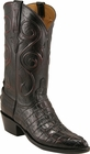 Mens Lucchese Classics Black Cherry American Alligator Tail Custom Hand-Made Cowboy Boots L1058