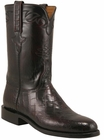 Mens Lucchese Classics Black Cherry Belly American Alligator Custom Hand-Made Roper Boots L3020