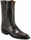 Mens Lucchese Classics Black Cherry Buffalo Custom Hand-Made Roper Boots L3539