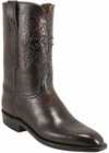 Mens Lucchese Classics Black Cherry Domingo Goat Custom Hand-Made Roper Boots L3546