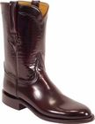 Mens Lucchese Classics Black Cherry Goat Custom Hand-Made Roper Boots L3505