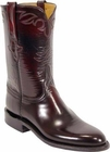 Mens Lucchese Classics Black Cherry Goat Custom Hand-Made Roper Boots L3521